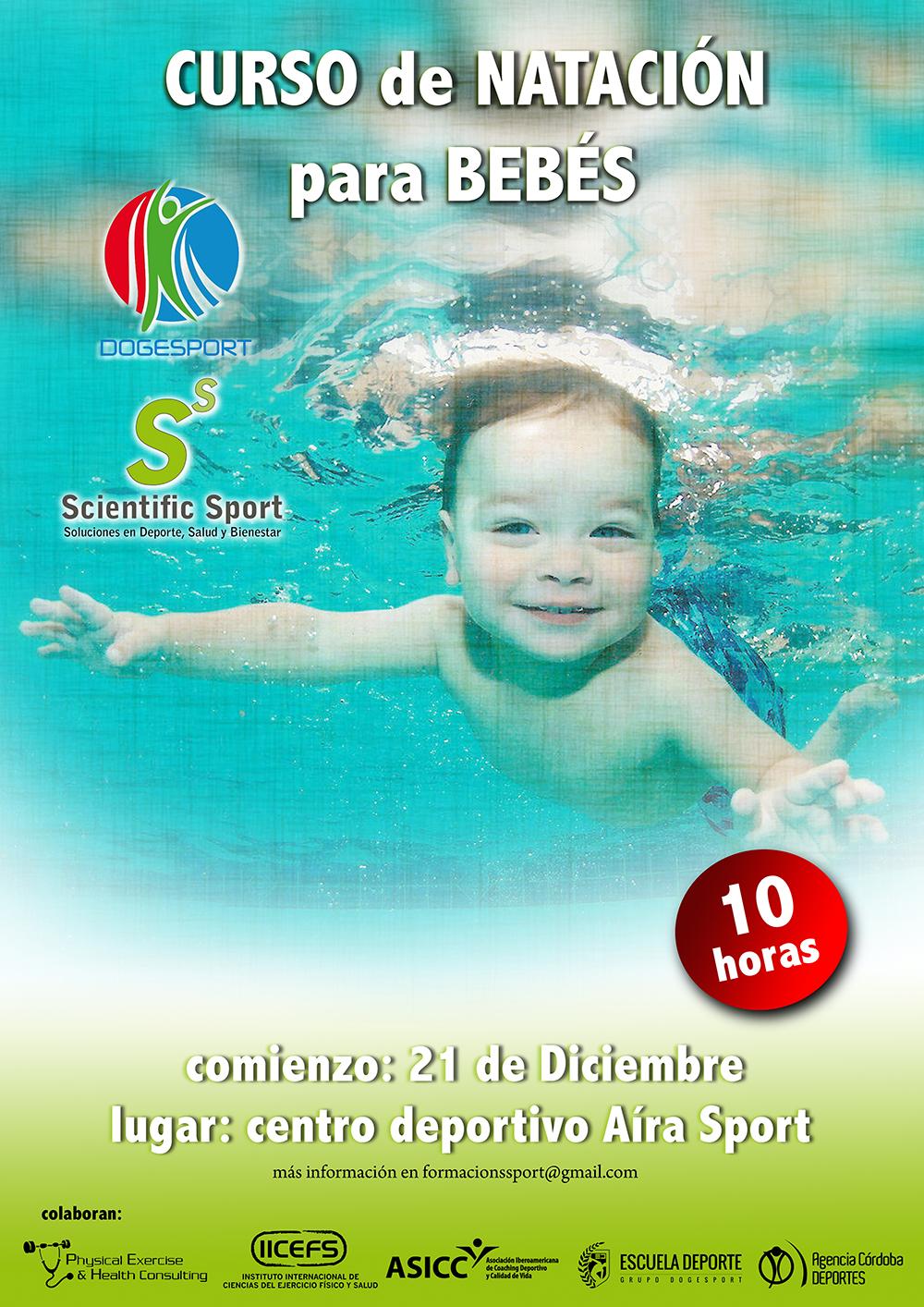 Curso de nataci n para beb s dogesport for Clases de piscina para bebes