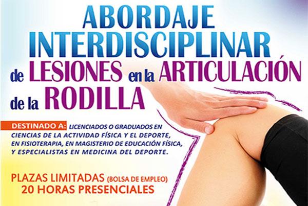 Abordaje interdisciplinar de lesiones en la articulación de la rodilla